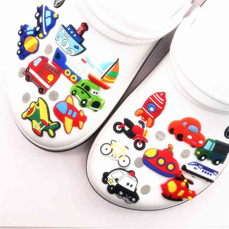 Means Of Transportation Model Shoe Charms Decoration Accessories