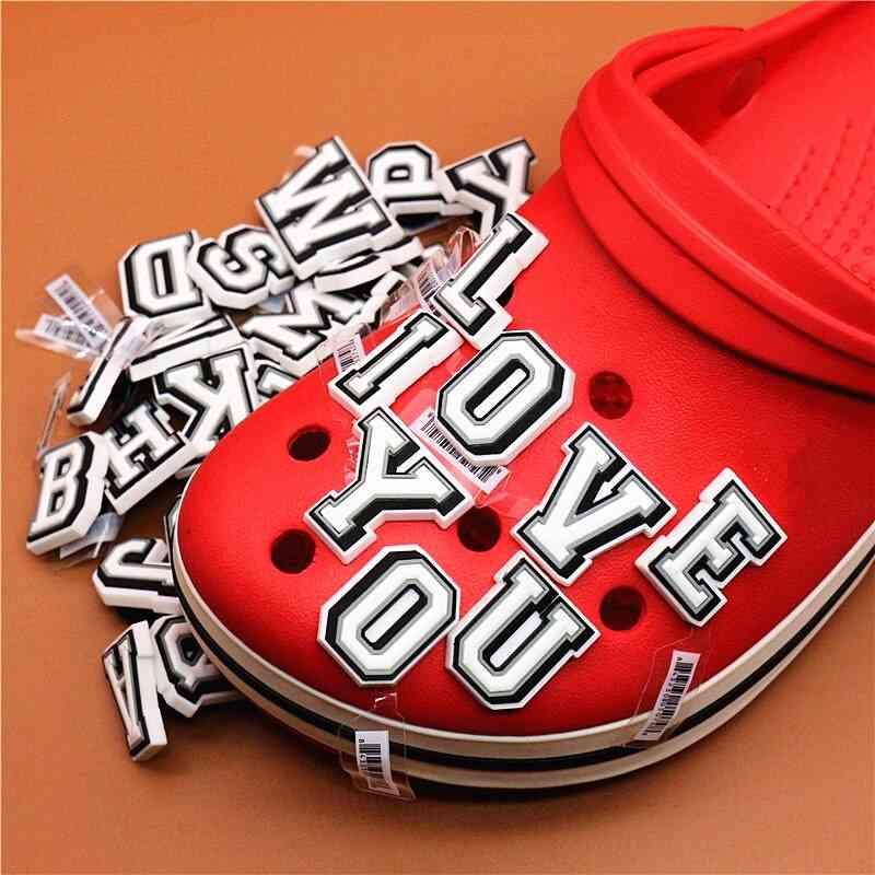 Original Shoe Buckle Accessories Diy Combination English Alphabet