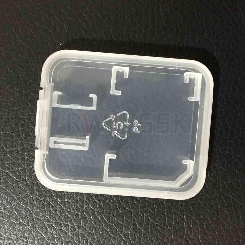 Tf Sd Micro Sdhc Sdxc Card Box, Plastic Case