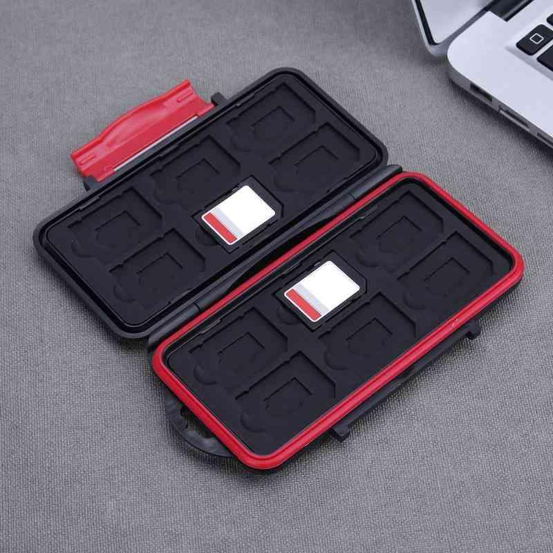 Anti-shock Waterproof Memory Card Case  With 12 Slots