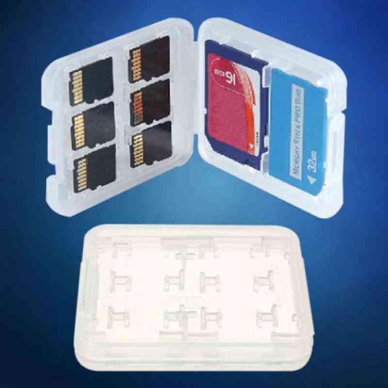 Double Layers Plastic Sd/tf/mspd Card Storage Box