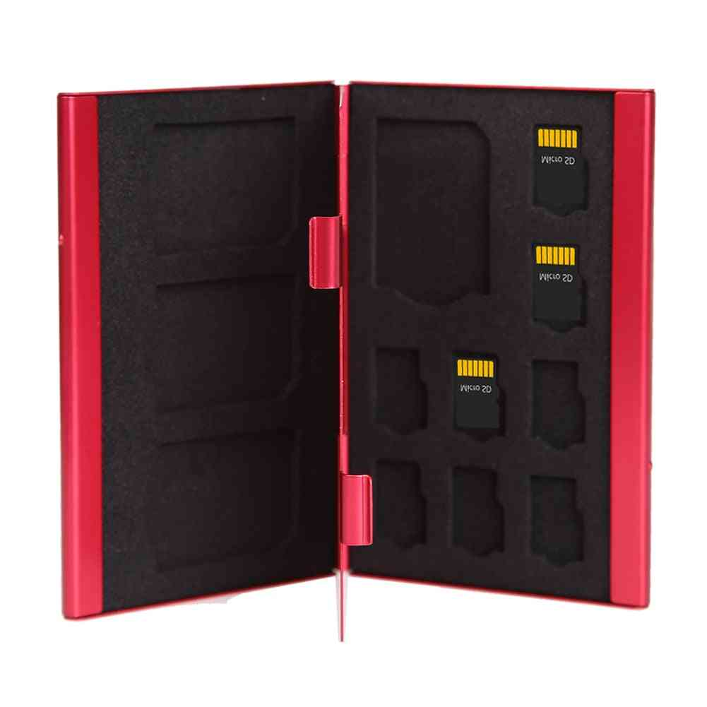 Memory Card Case, Portable Deck 8tf & 4sd Cards Storage Holder Box