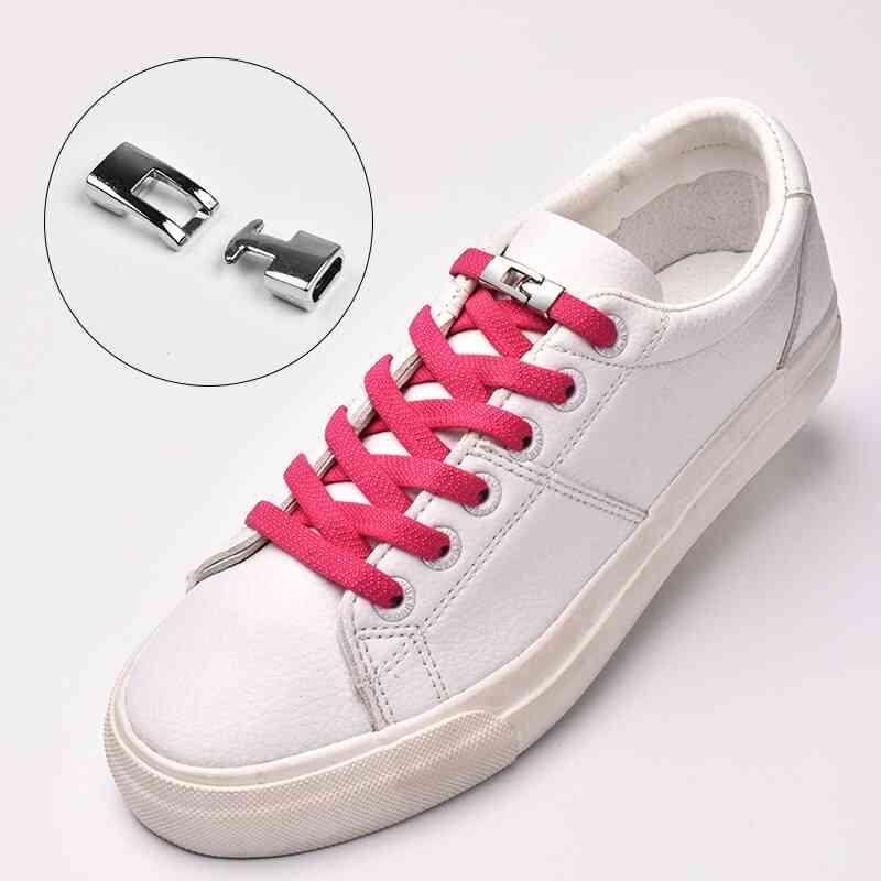 Quick Elastic Shoelaces Flat No Tie Cross Buckle Lock