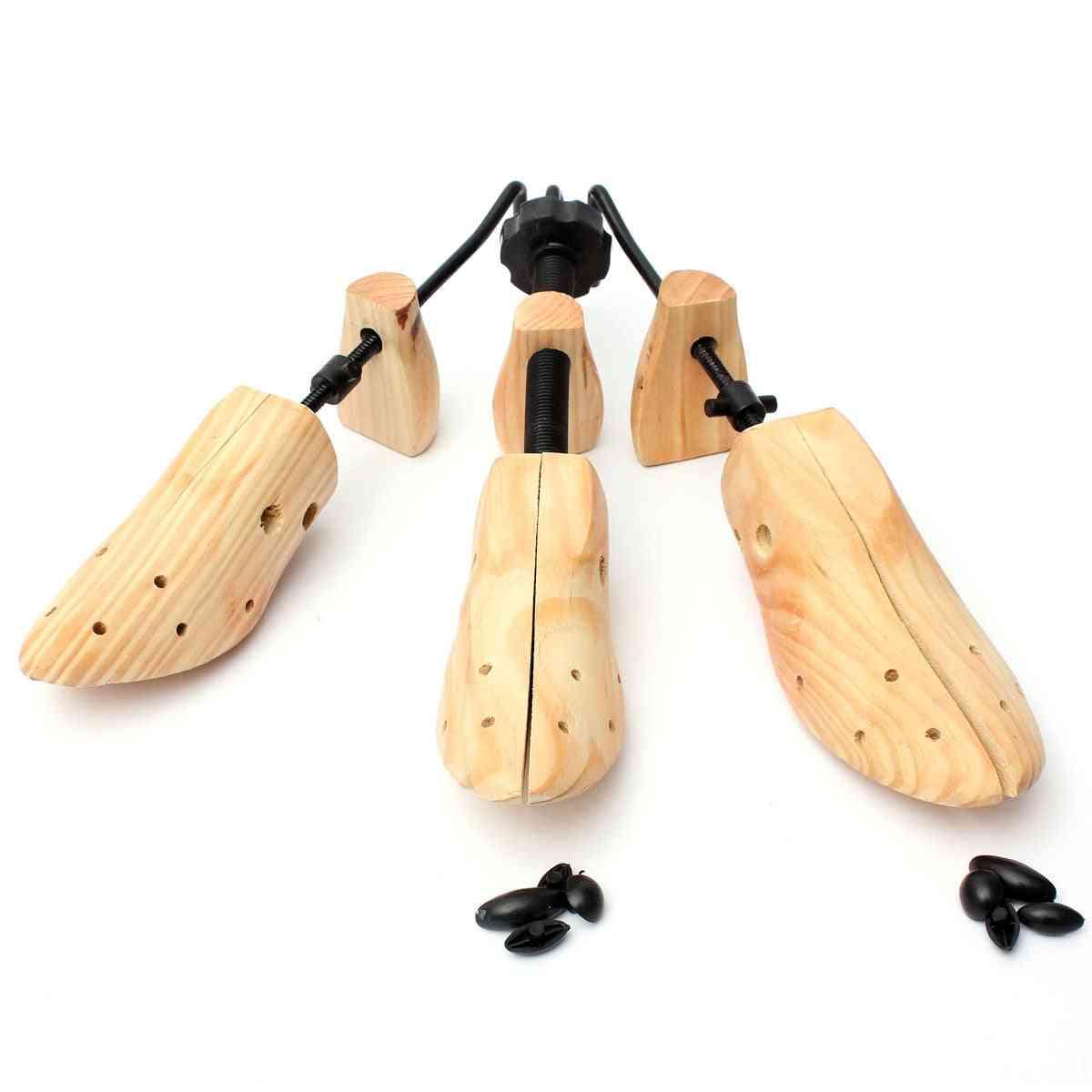 Durable Shoe Tree Wood Stretcher, Wooden Adjustable Man Women Flats Pumps Boot Shaper Rack Expander