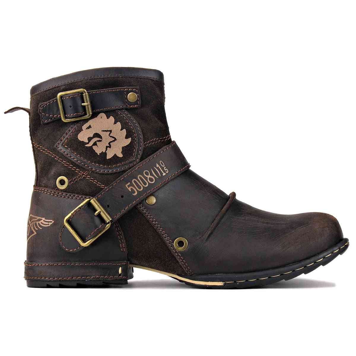 Genuine Leather High-quality Cowboy Boots With Zipper-up