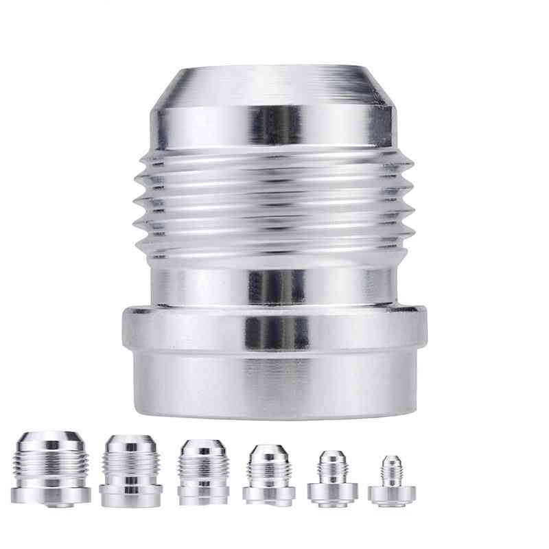 Male Aluminum Weld Bungs Straight Weld On Fitting Round Base High Quality