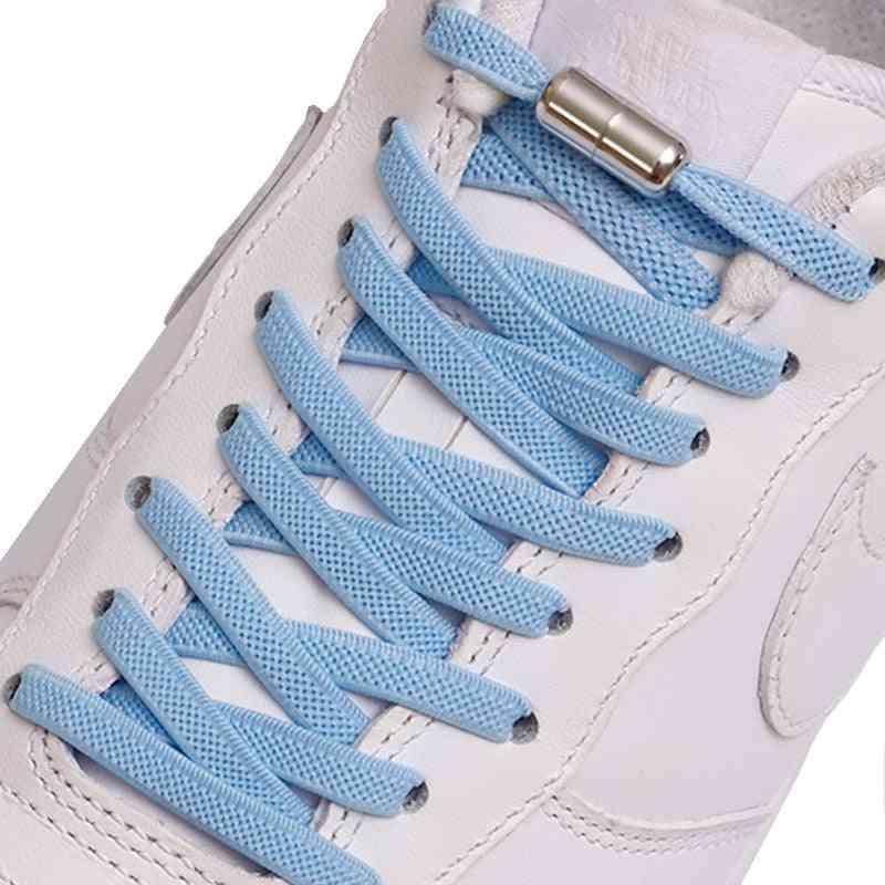 New Flat Elastic Locking No Tie Shoelaces