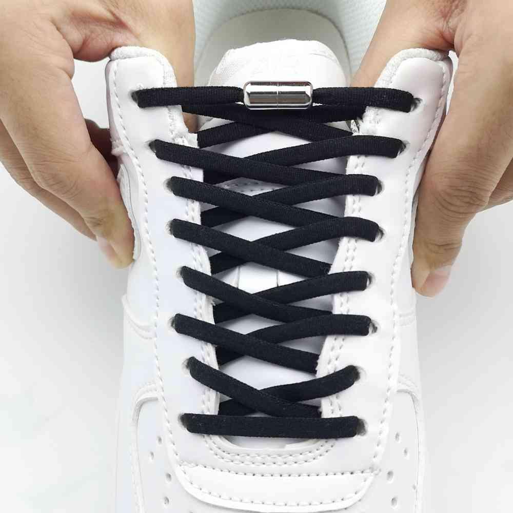 No Tie Shoelaces, Round Elastic Shoe Laces For Men Women