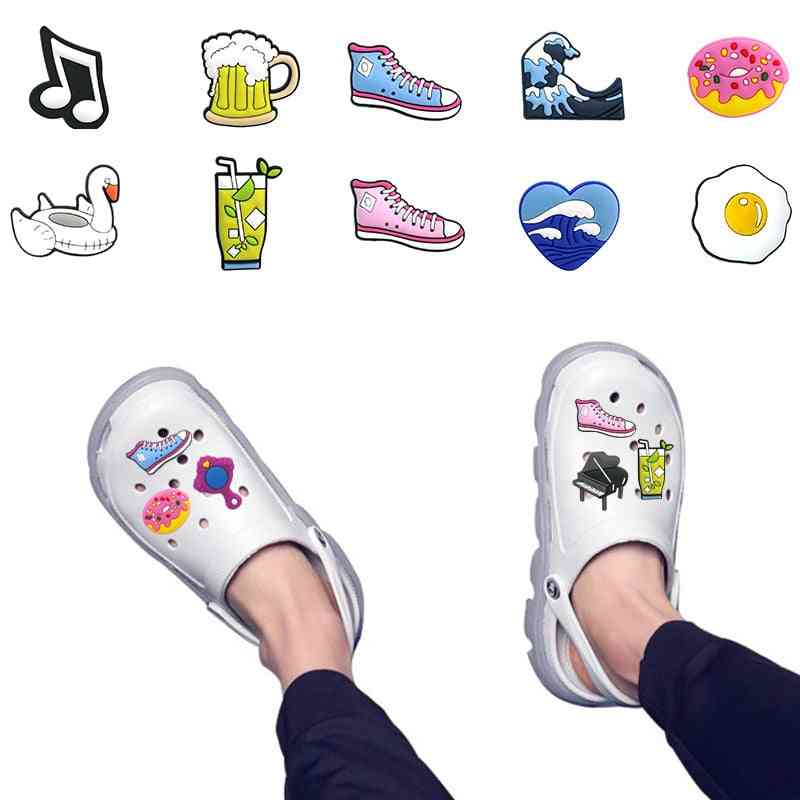 Cute Foods Poached Croc Charms Decoration Accessories