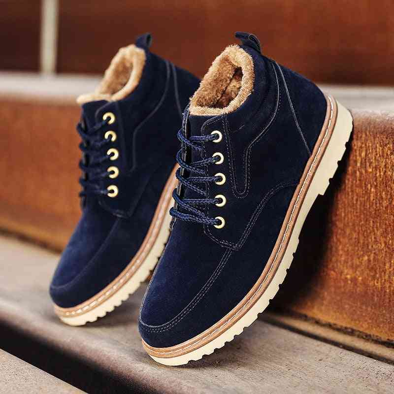 Genuine Leather Ankle Winter Work, Military & Snow Boots For Men