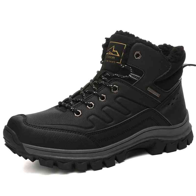 Winter Warm Waterproof Snow, Military, Hiking Leather Boots