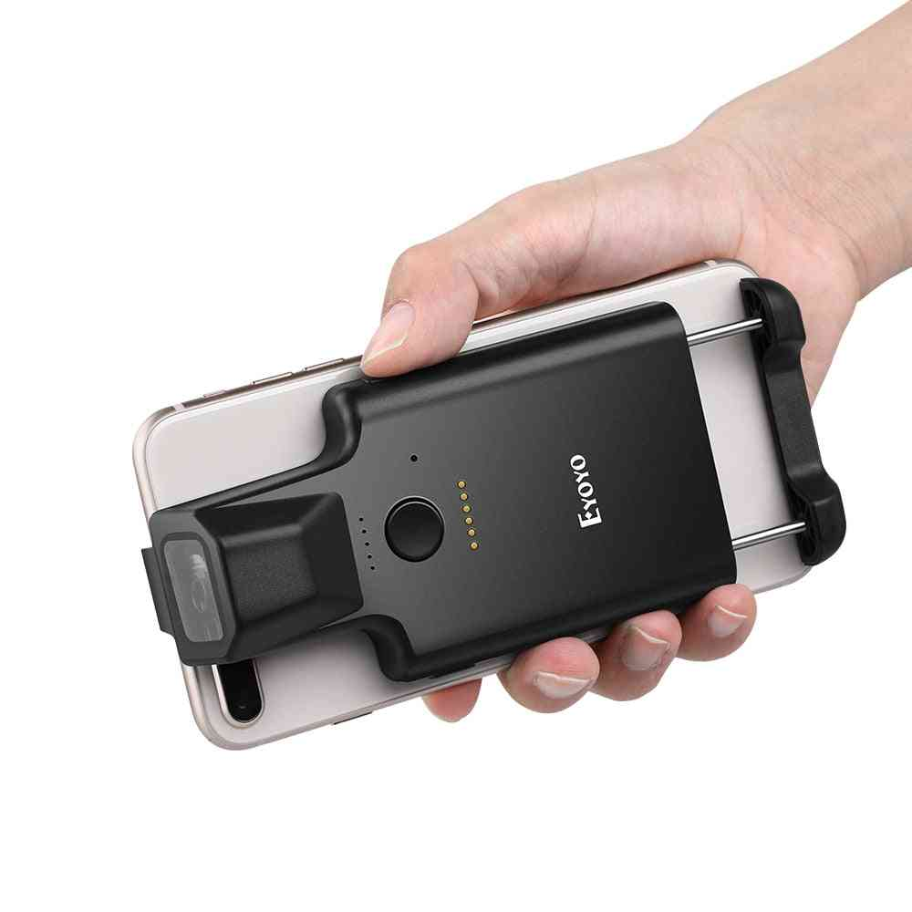 2d Phone Back Clip Bluetooth, Portable Barcode Reader For Android Ios System