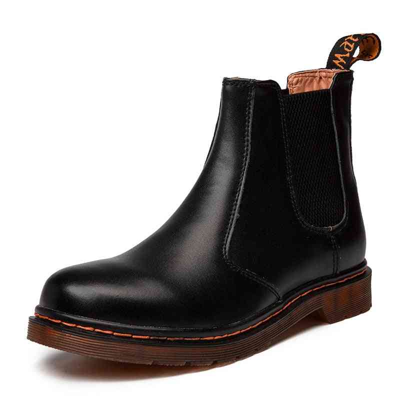 Autumn, Winter Leather Chelsea Comfortable Casual Boots
