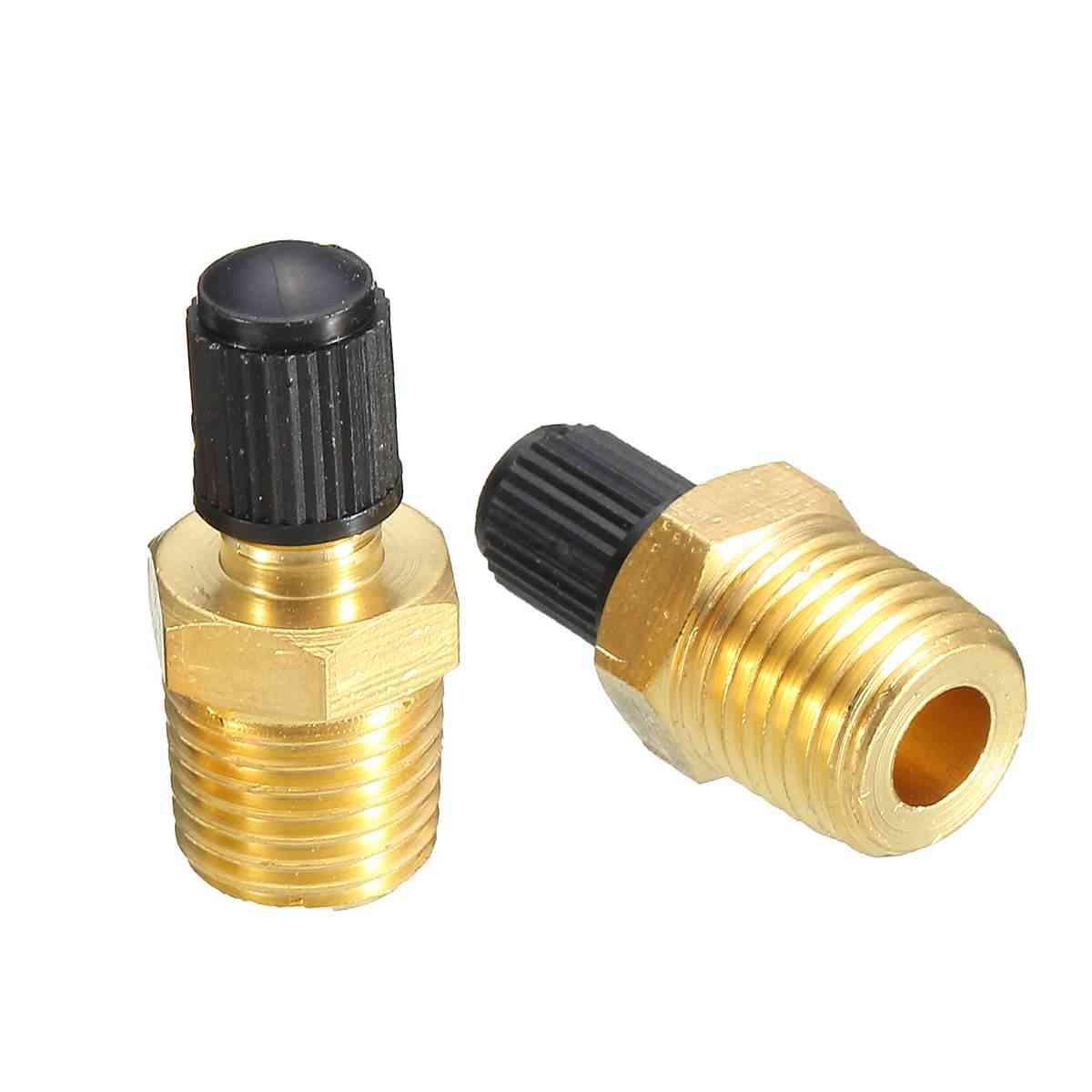 Npt Mpt Brass Air Compressor Tank Fill Valve Schrader Brass-valves & Parts