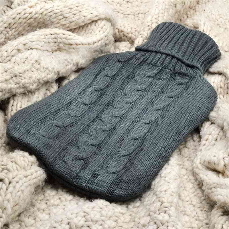 Knitted Reusable, Hand Warmer Hot Water Bottle Cover