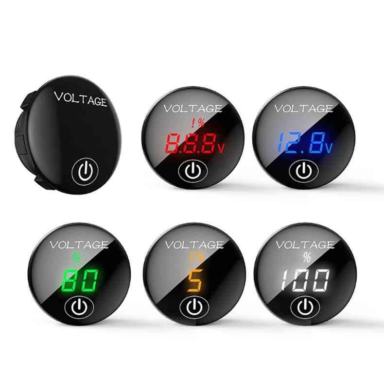 Digital Voltage Meter With Touch On Off Led Switch