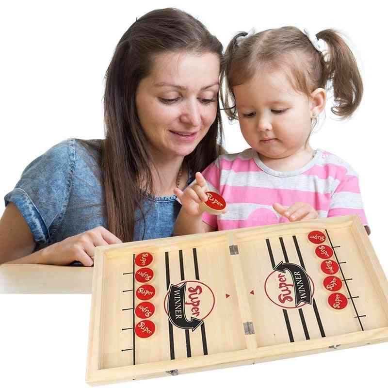 Foldable Wooden Chess Board Indoor, Outdoor Entertainment Game