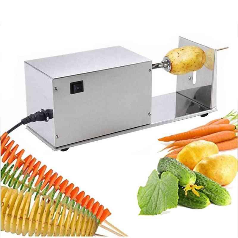 Potato Slicer Electric Rotating Machine - Commercial Home Equipment