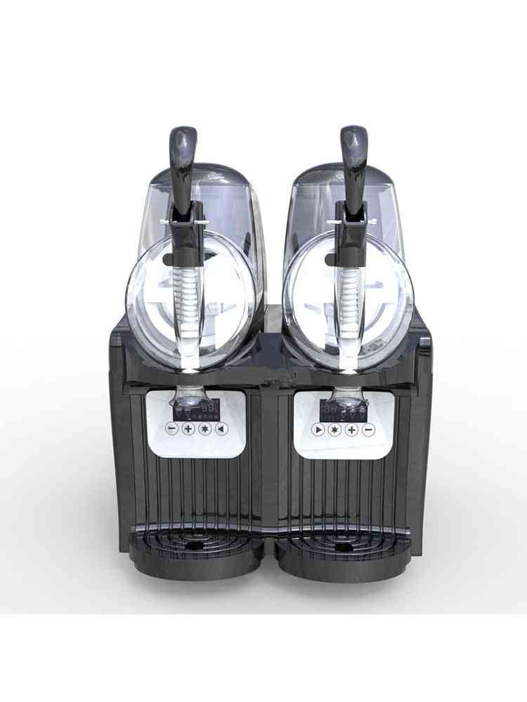 Commercial Ice Snow Melting Machine, Two Tank Slush/ Cold Drink Maker/ Smoothies / Sand Ice