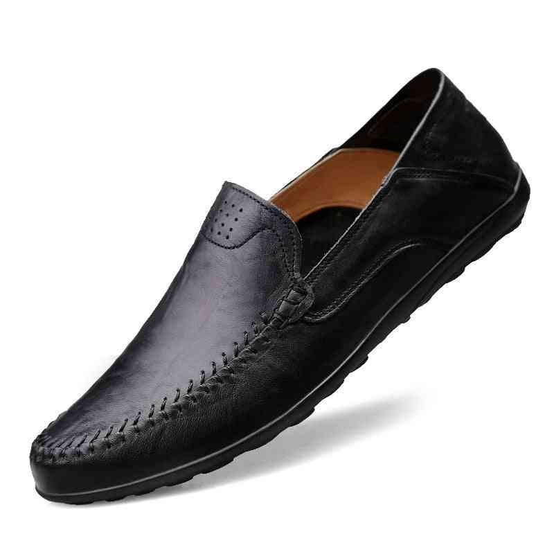 Genuine Leather Men Casual Shoes, Luxury Loafers Breathable &slip-on