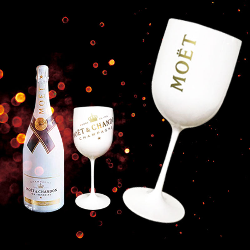 White Moet Plastic Acrylic Goblet Celebration Party Drink  Wine Champagne Glass Plastic Cup