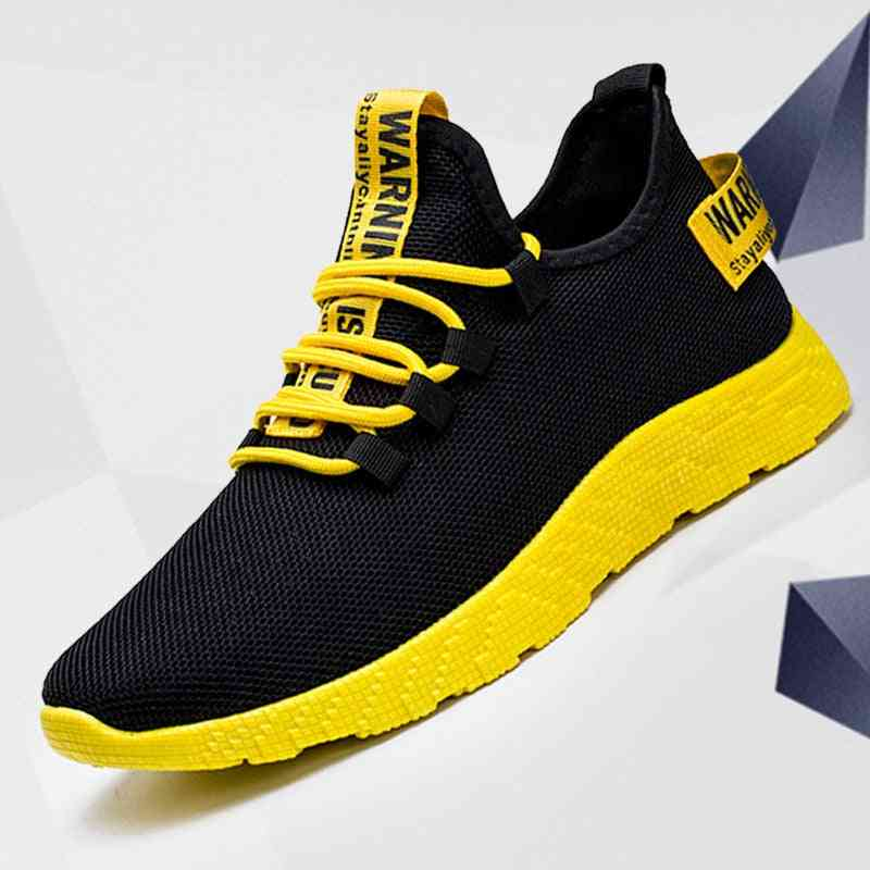 Men Sneakers Breathable Lace-up Mesh Casual Shoes
