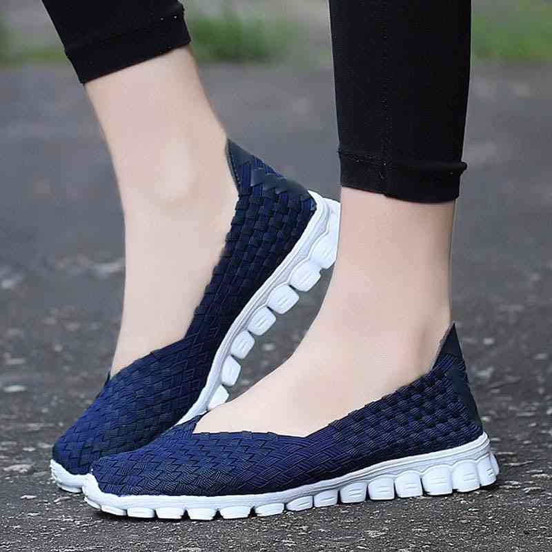 Women Summer Casual Flats Breathable Female Walking Shoes