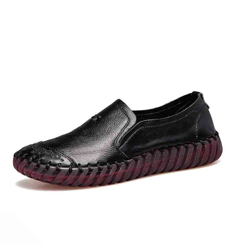 Women Genuine Leather Loafers Casual Comfortable Shoes