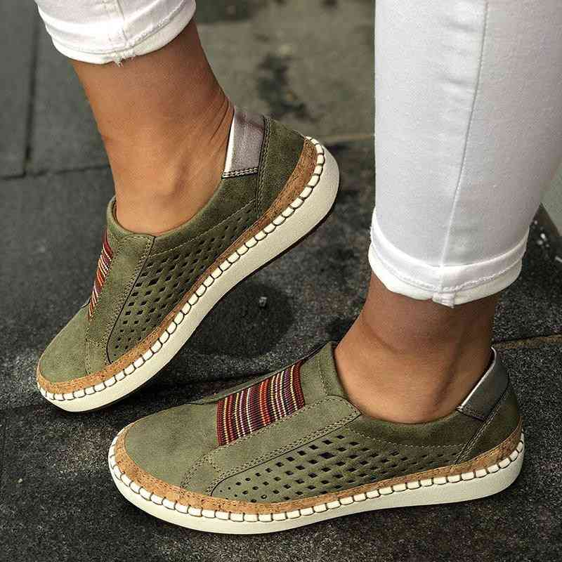 Women Flats Slip On Sneakers Breathable Shoes Loafers