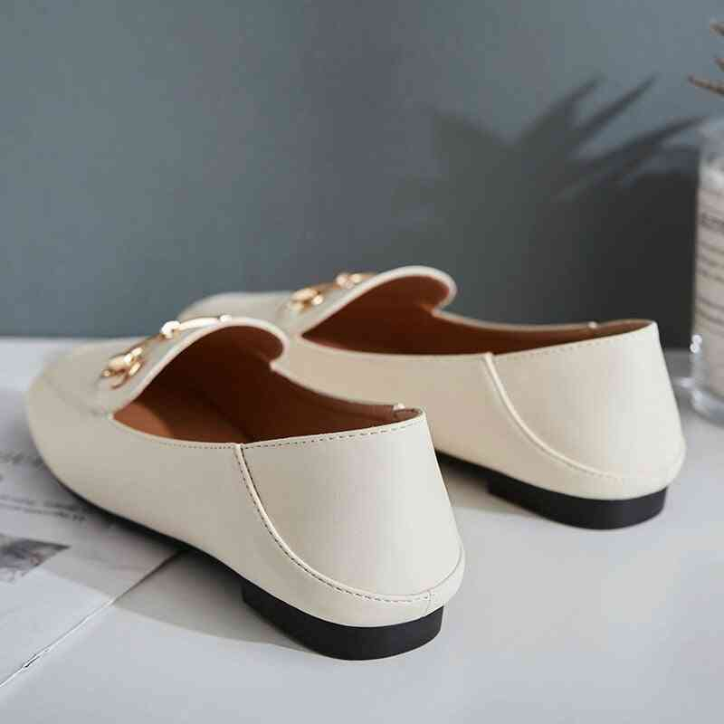 Women's Fashion Simple Thick Heels Thin Shallow Buckle Casual Shoes