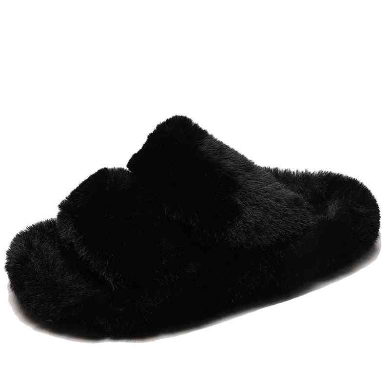 Women Slippers, Winter Slides Fluffy Furry Sandals / Shoes