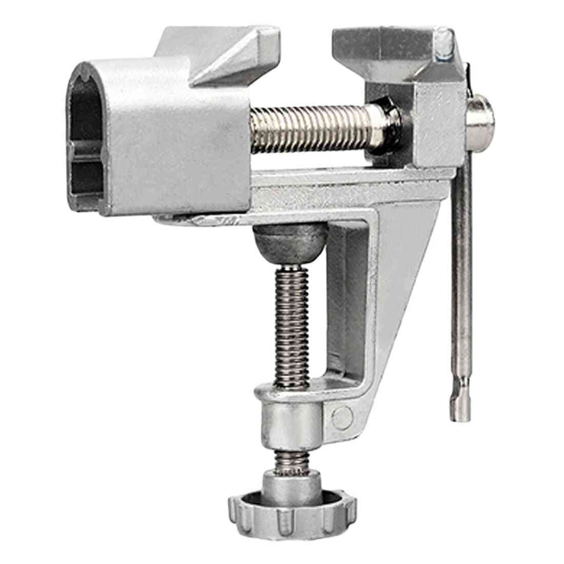 Machine Bench And Screw Vise, Mini Table Clamp For Craft Mould Fixed Repair Tool