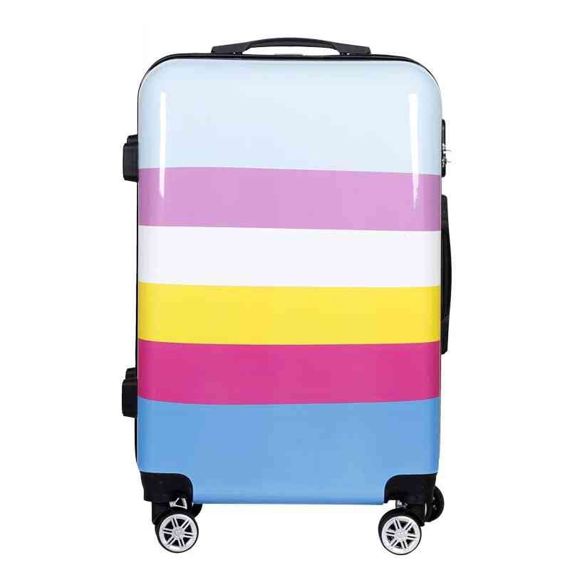 New Fashion Trolley Suitcase, Carry On Travel Valise Bag, Quality Luxury Rolling Luggage Boarding Password Pc Cute Box
