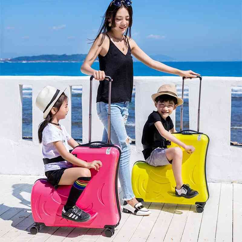 Children Spinner Travel Trolley Case Cute Baby Carry On Suitcase