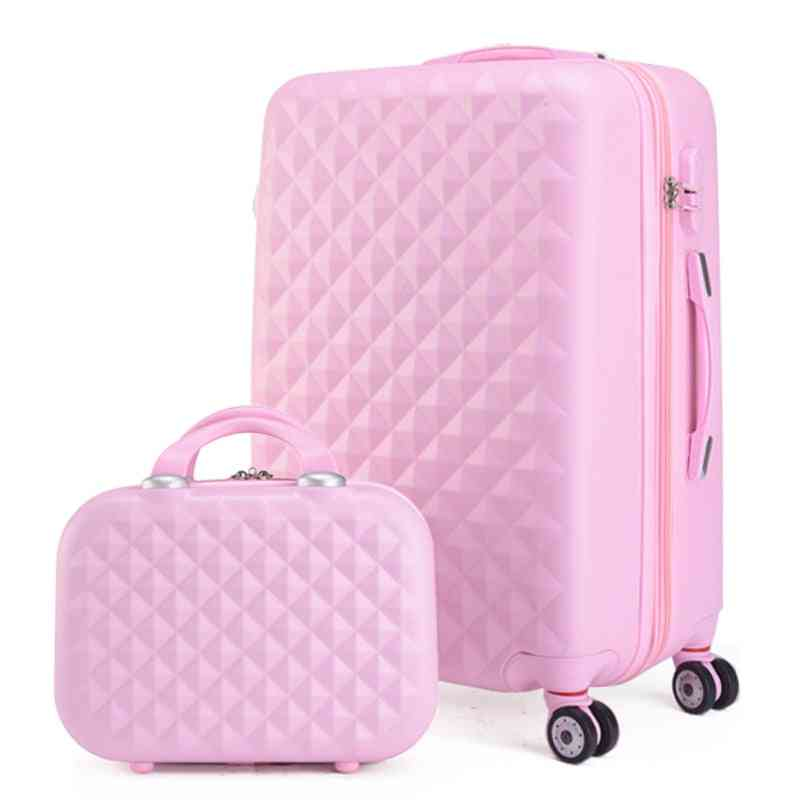 Fashion Cosmetic Bag/girl Students Trolley Case,travel Spinner Password Suitcase