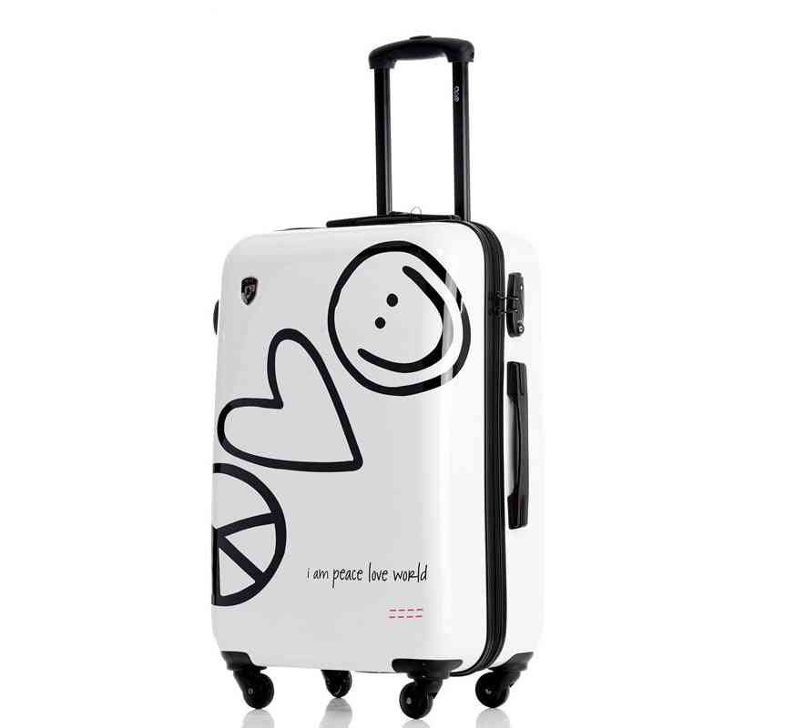 Fashion Trolley Suitcase Creative Boarding Password Rolling Luggage