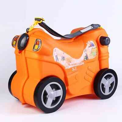 Motorcycle Shape Rolling Luggage Suitcase For Kids