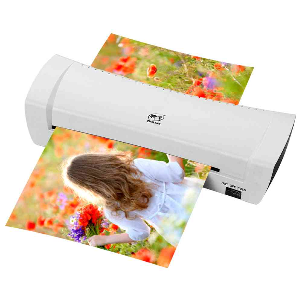 Office Hot & Cold Photo Roll Laminator Thermal Laminating Machine
