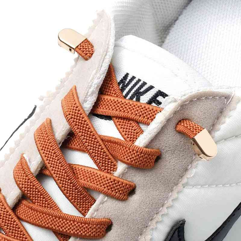 Elastic Outdoor Leisure Sneakers Quick Safety Flat Shoelace