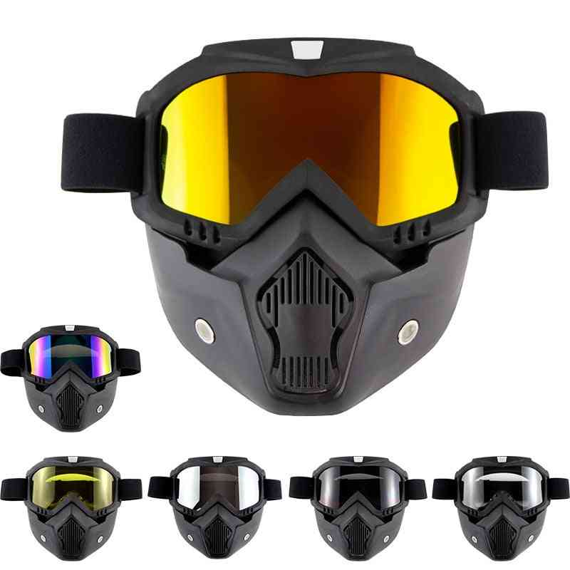 Outdoor Ski Goggles, Anti-fog Snowboard Mask