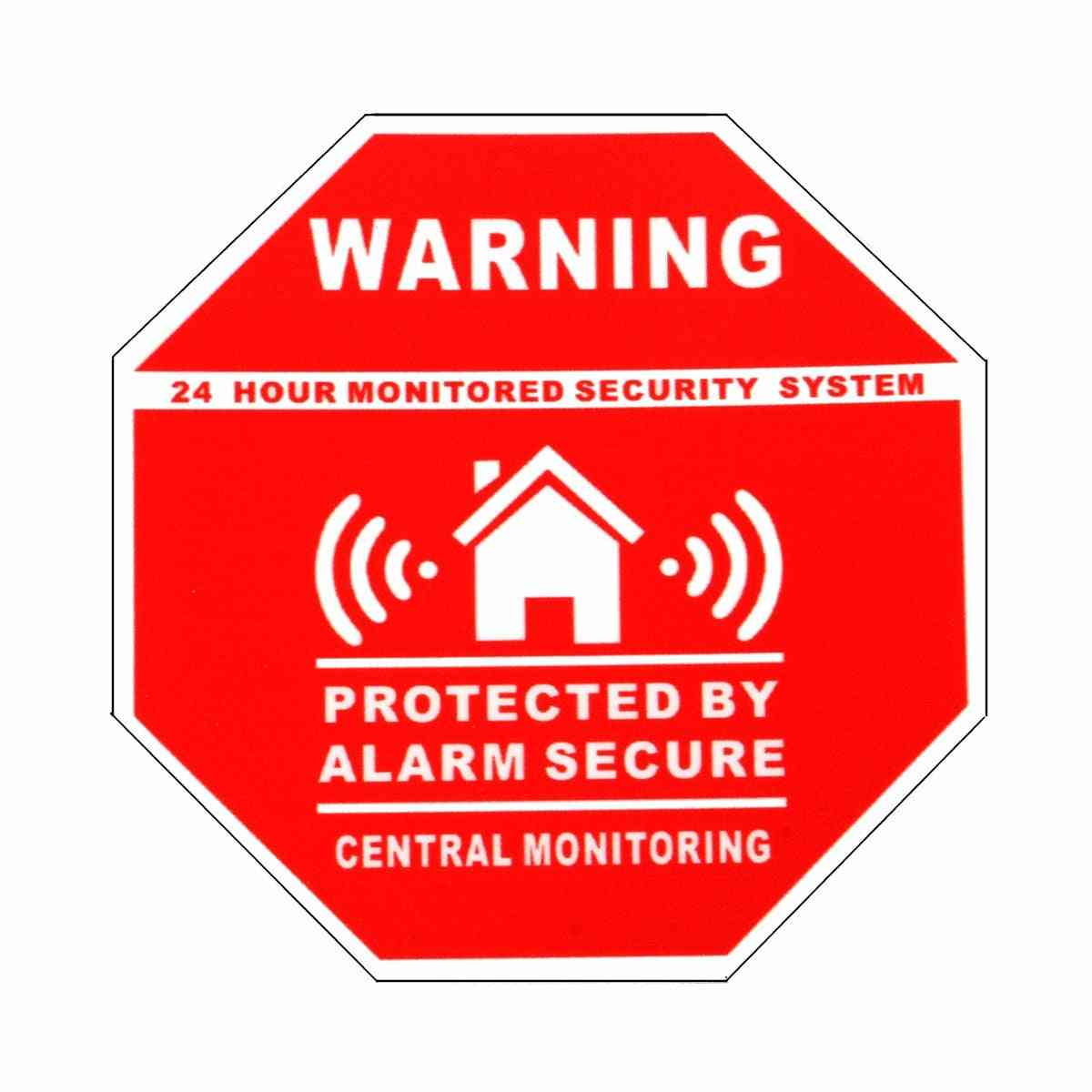 Alarm Security Stickers / Decals Signs For Windows & Doors Warning Safety