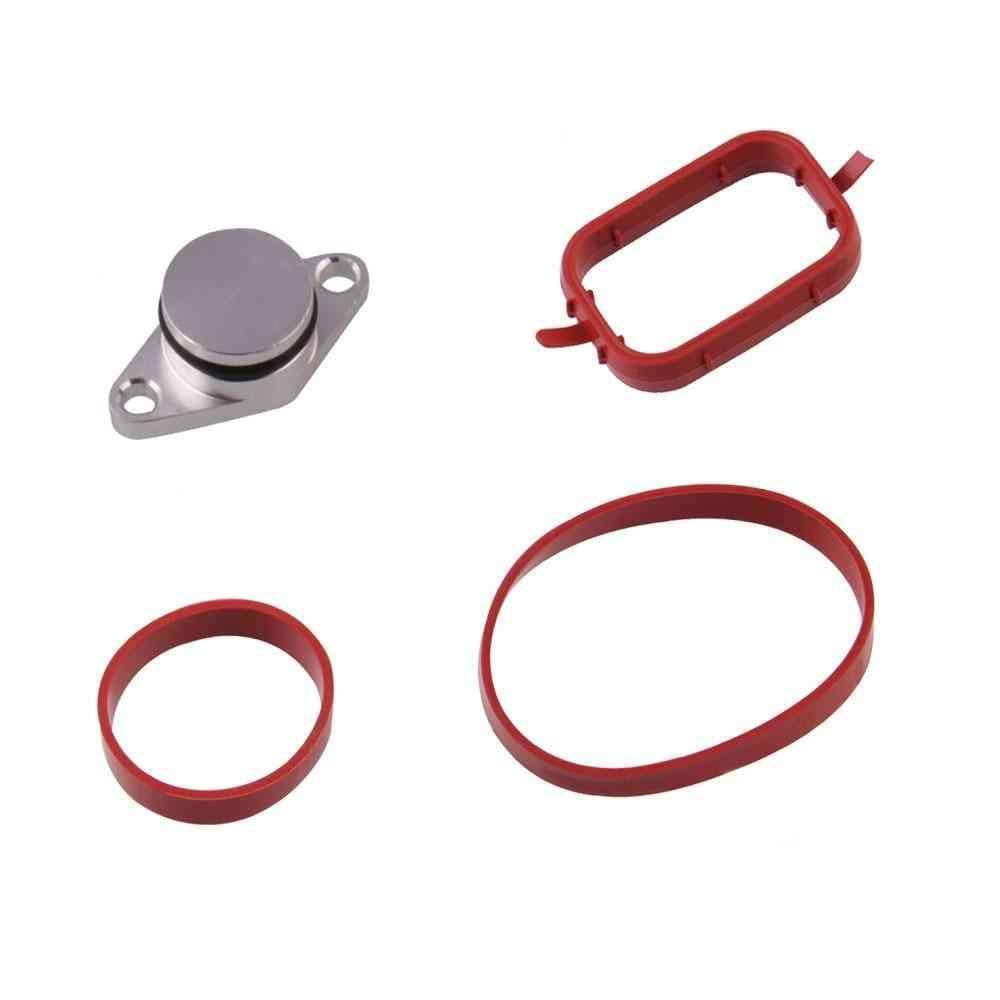 Aluminum Swirl Flap Blanking Plates Seal With Intake Manifold Gasket