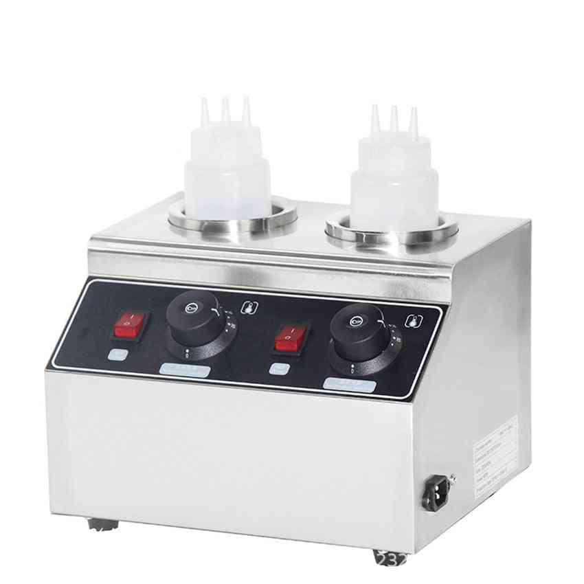Electric Sauces Warmer Commercial Bottle Hot Cheese Chocolate Heater Stainless Steel Topping Dispenser (fy-qk-2)