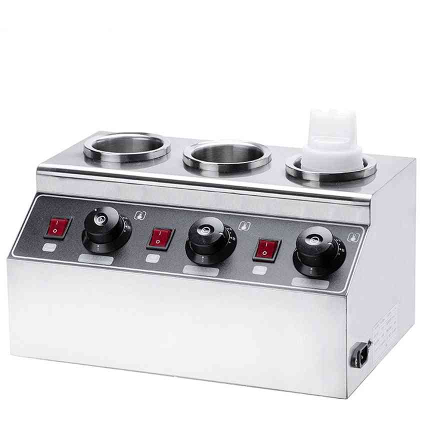 Electric Sauce Warmer Commercial Bottles Hot Cheese Chocolate Heater Stainless Steel Toppings Dispenser