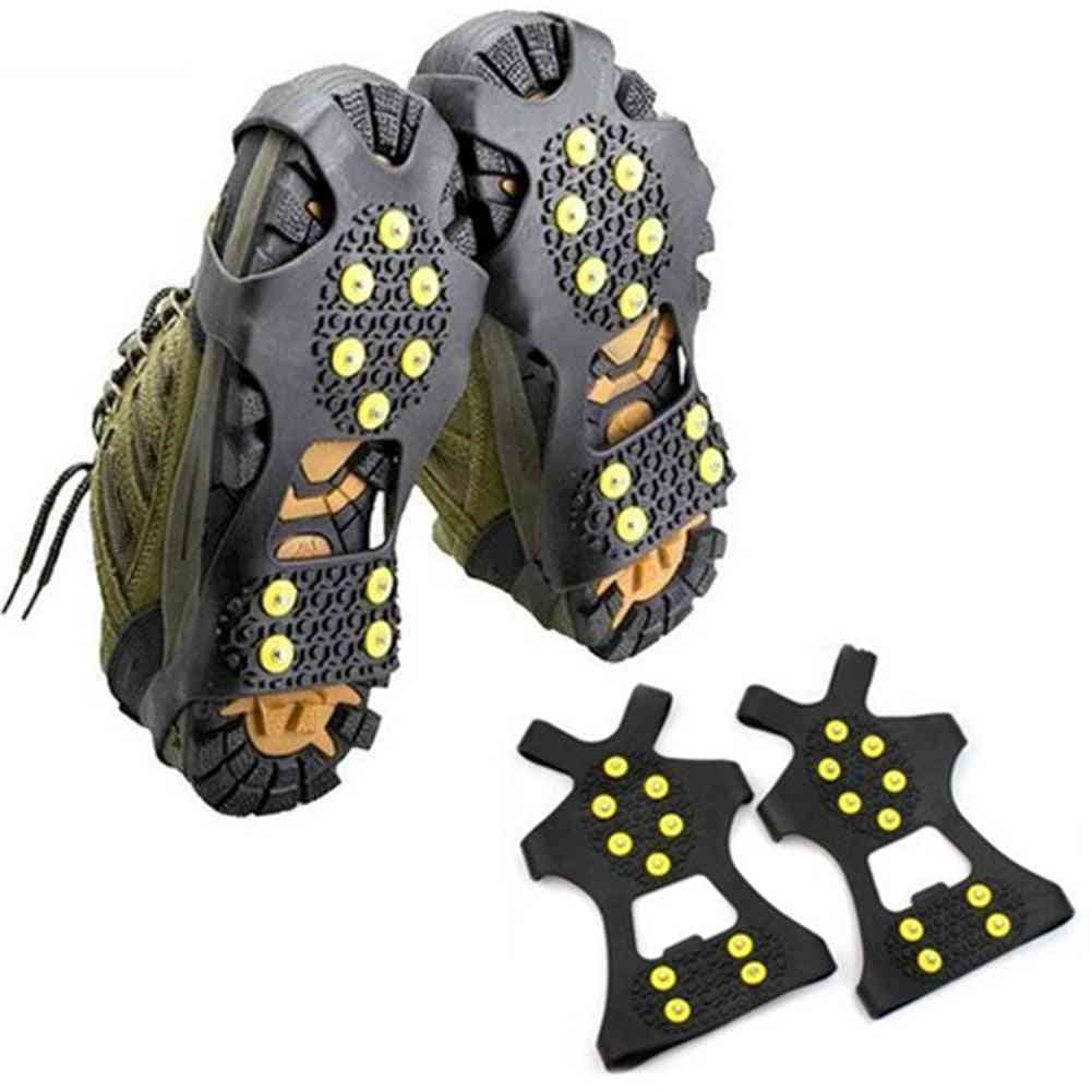 10 Studs Anti-skid Ice Gripper Spike Winter Climbing Anti-slip Shoes Covers Crampon