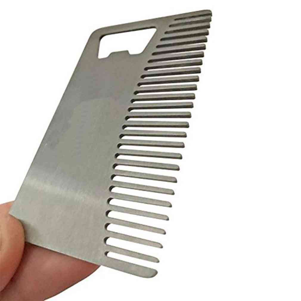Metal Hair Beard Comb With Bottle Opener