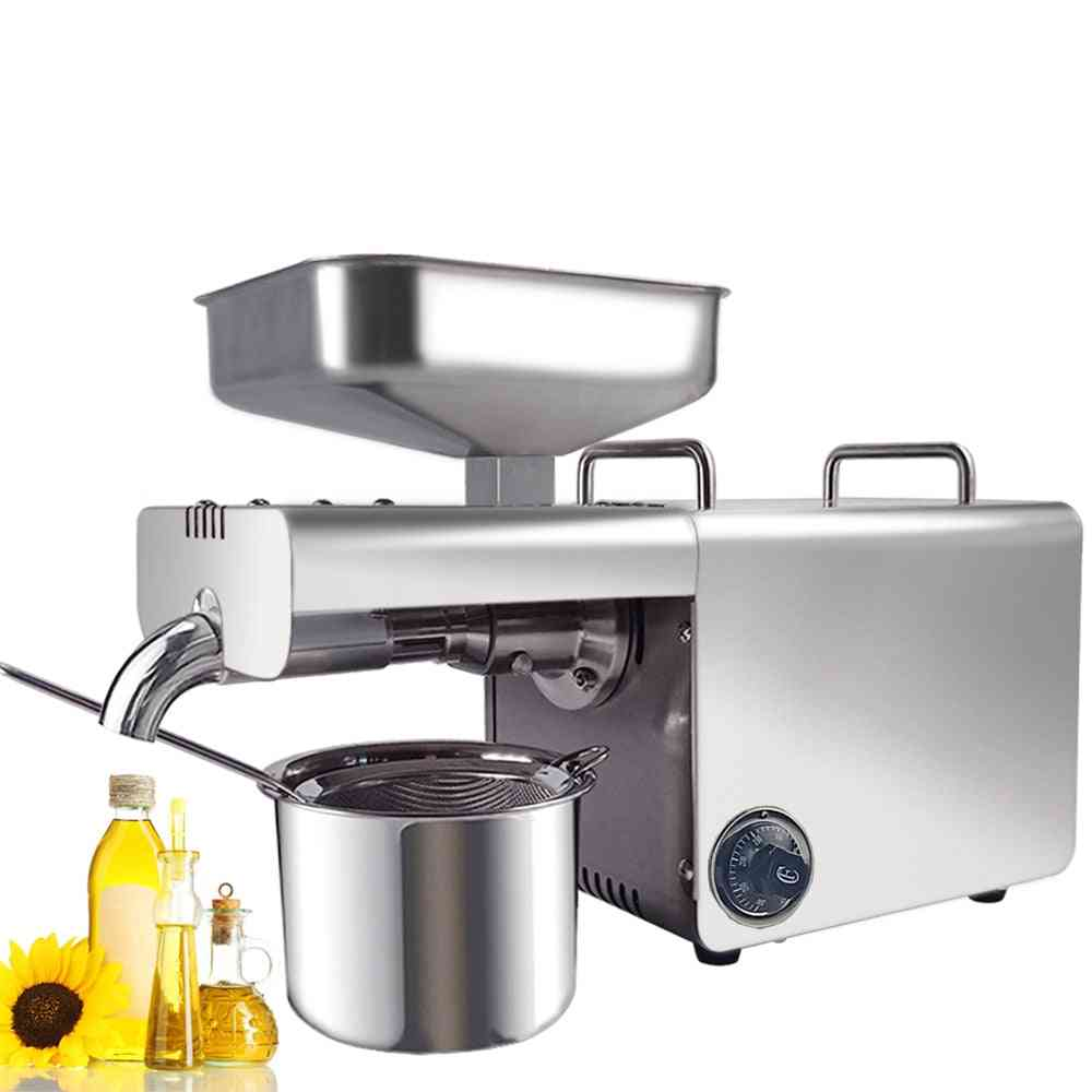 Automatic Cold/hot Oil Press Machine With Temperature Control, Household Extraction Presser
