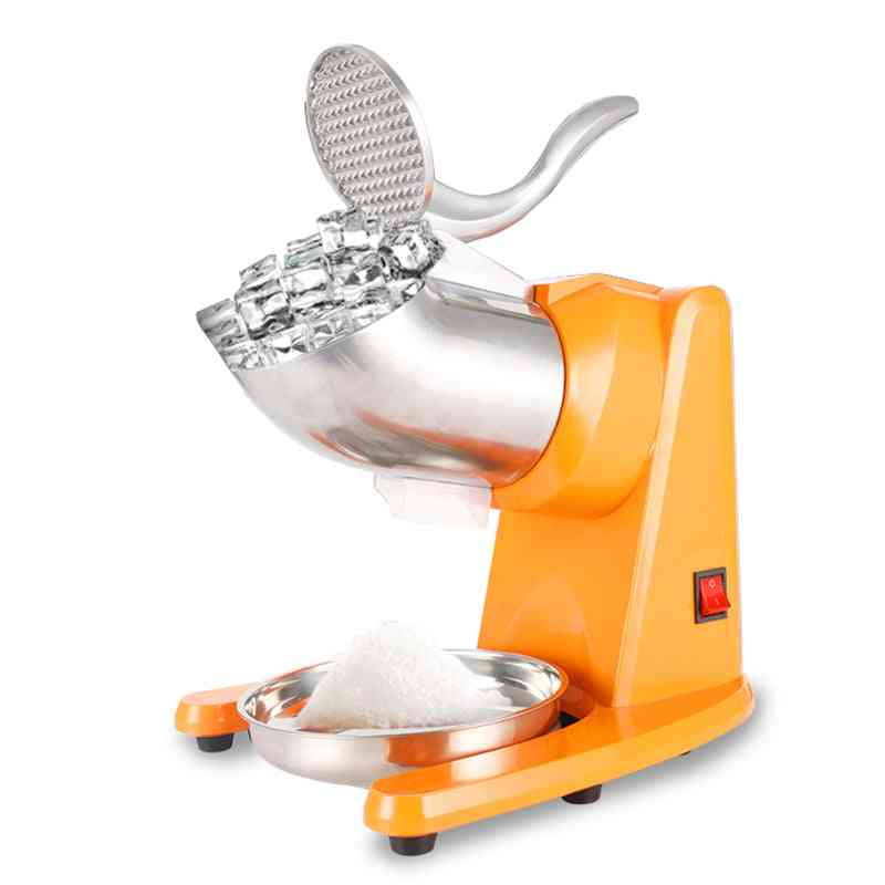 Stainless Steel Electric Ice Crusher, Double Blade Smoothie Slush Block Breaking