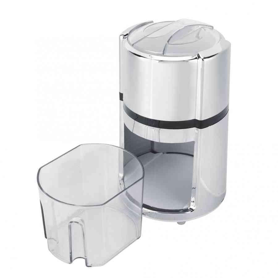 Stainless Steel Round Shape Hand Crank Manual Ice Crusher, Shaved Machine Kitchen Tool