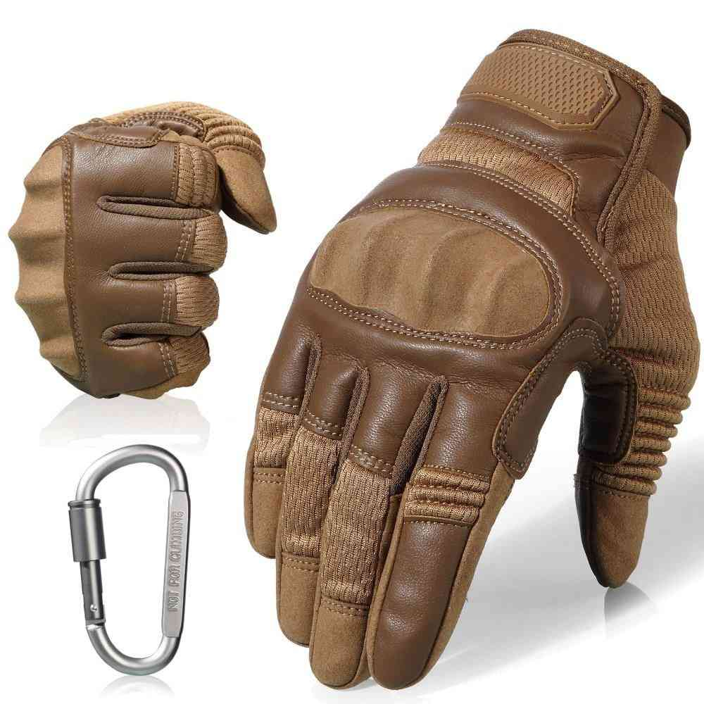 Pu Leather Motorcycle Full & Half Finger Gloves